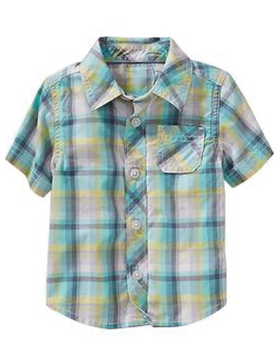 Calm Sea Checked Baby Shirt