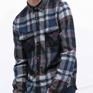 Cassatta Check Long Sleeve Flannel Shirt