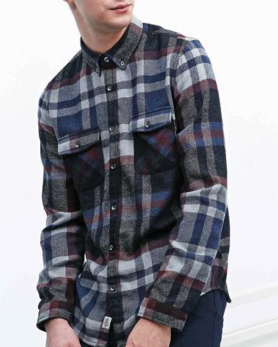 Cassatta Check Long Sleeve Flannel Shirt