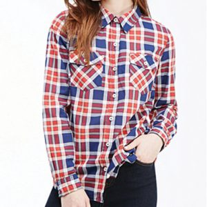 Cat World Red Checked Flannel Shirt