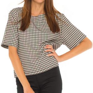 Checked Airy Formal Top