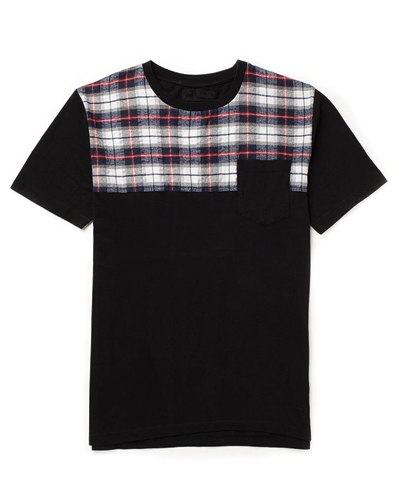 Checked Block Flannel Tee