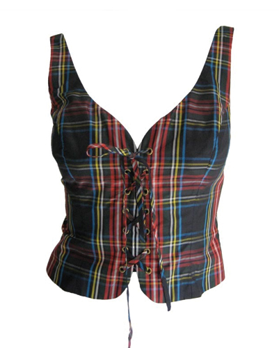 Checked Medieval Corset Vest