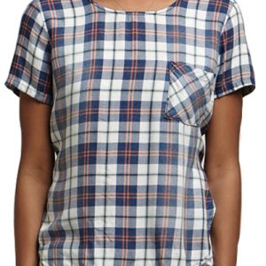 Checked Pocket Top for Women
