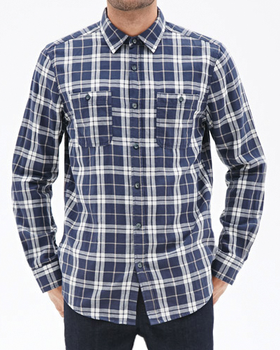 Cheesy Checkers Long Sleeve Flannel Shirt
