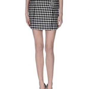 Chromatic Gingham Print Flannel Skirt