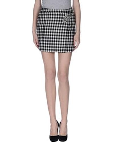 Chromatic Gingham Print Flannel Skirt