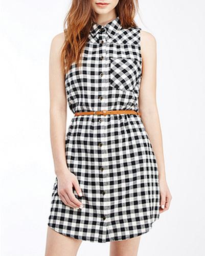 Classic Monochrome Shirt Dress
