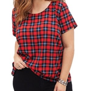 Classic Red and Blue Flannel Tee