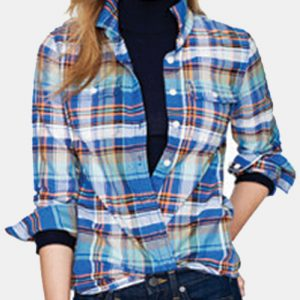Cool Flannel Shirts For Women In Blue And Orange