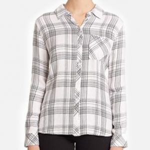 Cool Summer Black & White Checked Ladies Shirt
