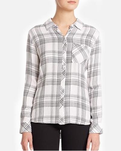 Cool Summer Black & White Checked Ladies Shirt
