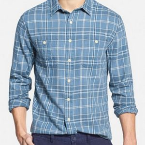 Cotton-Chambray Double-Faced Cool Flannel Shirt