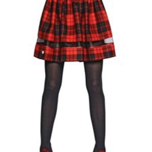 Cow Girl Red and Black Check Flannel Skirt