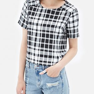 Crazy Check Shirt in Bold Black for Women