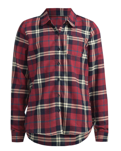 Crisp White And Green Girls' Flannel Shirts