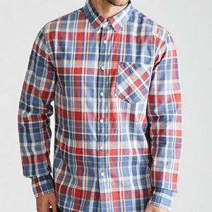 Crispy Checkers Long Sleeve Flannel Shirt