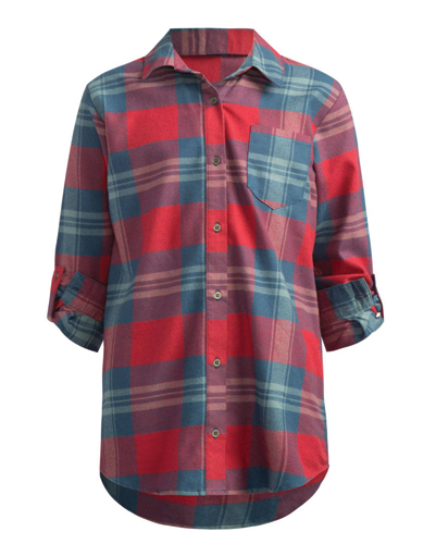Cropped Checked Girls' Flannel Shirt
