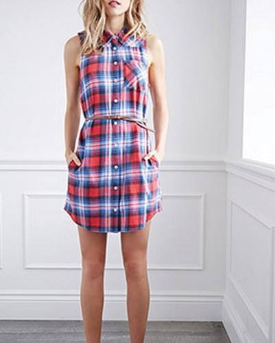 Cute Brick Shirt Dress