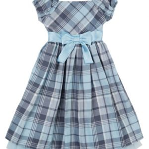 Cute Cloudy Flannel Check Dress