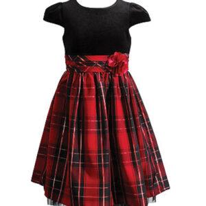 Damsel Tweed Flannel Check Dress