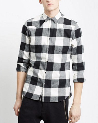 Dark Charcoal Tartan Cool Flannel Shirt