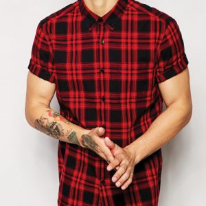 Dash Hunt Red Checked Flannel Shirt