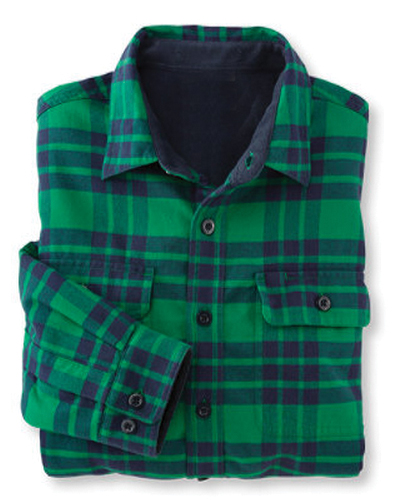 Daunting Blue and Green Checked Shirt