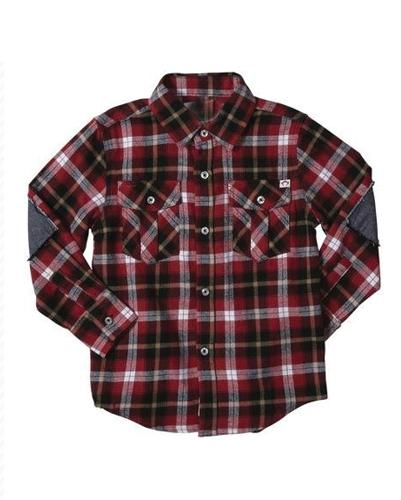 Deep Maroon Baby Shirt