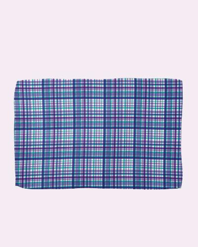 Dramatic Blue Check Towel