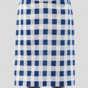 Dreamy Blue and White Check Flannel Skirt