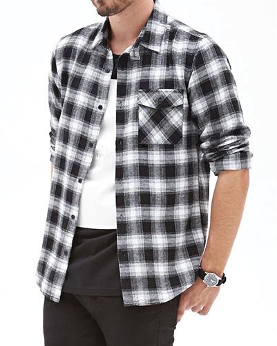 Dual Tone Flannel Shirt