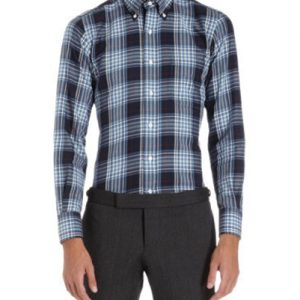 Electric Black Checked Designer Flanner Shirt