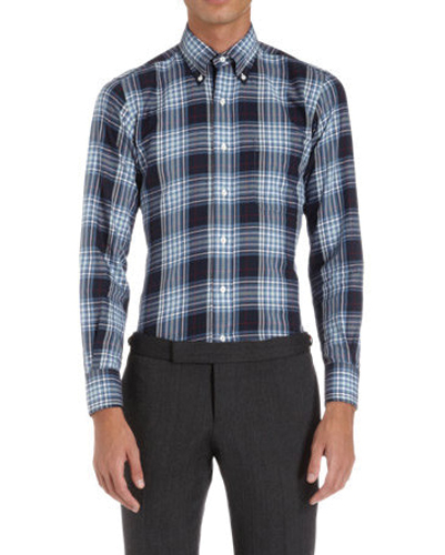 Electric Black Checked Designer Flanner Shirt