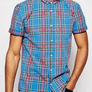 Eyelet Collars Cool Flannel Shirt