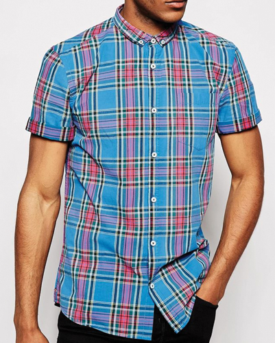 Eyelet Collars Cool Flannel Shirt