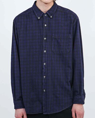 Flamboyant Dense Check Vintage Flannel Shirt