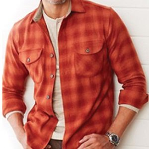 Flamingo Orange Wool Shirts supplier