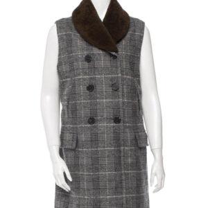 Flannel Coat-Dress in Grey & Black Checks