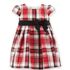 Flossy Flannel Check Dress