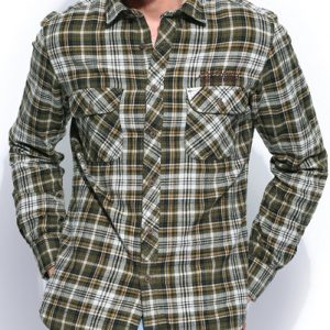 Franco Designer Long Sleeve Flannel Shirt