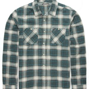 Fudge Blue Flannel Check Shirt