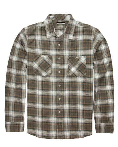 Fudge Brown Flannel Shirt