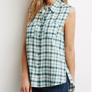 Great High-Low Flannel Shirt Top Manufacturer