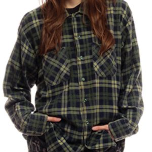 Green Boyfriend Wool Shirt suppliers