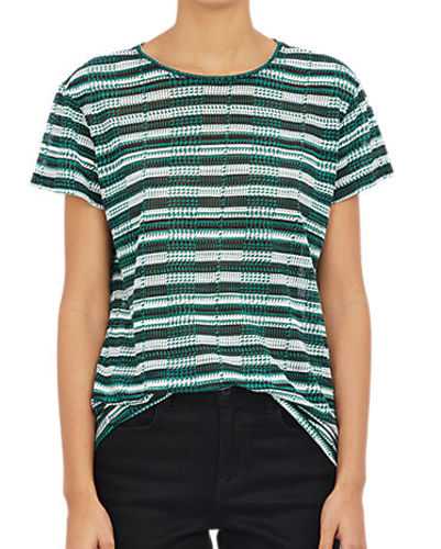 Green Knitted Women's Tee