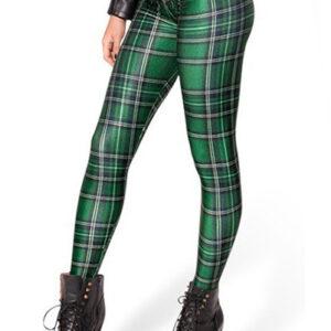 Green Magic Woman Flannel Leggings