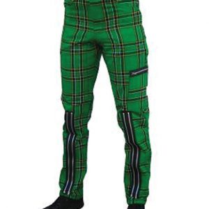 Green Zipper Men's Pants