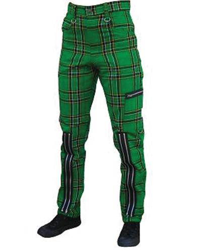 Green Zipper Men's Pants