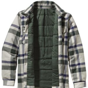 Grey and Blue Flannel Jacket